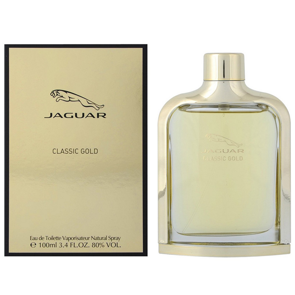 Jaguar Classic Gold Eau De Toilette Spray For Men 34 Oz Pharmapacks