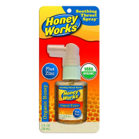 HoneyWorks Organic Honey Soothing Throat Spray, 1 oz  [368163782011]