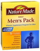 Nature Made Daily Men's Pack Vitamin Supplement Program 30 Each [031604010256]