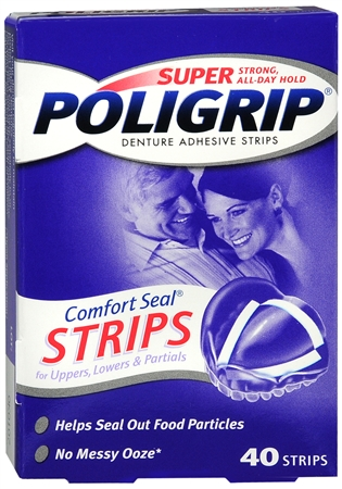 SUPER POLIGRIP Comfort Seal Strips 40 Each [310158080251]