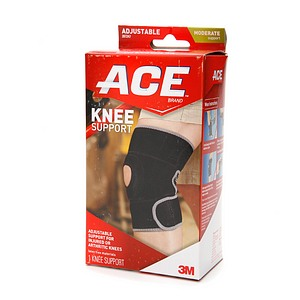 ACE Neoprene Knee Brace Open Patella One Size 1 Each [051131198159]