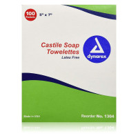 Dynarex Personal Wipe Individual Packet Castile Soap Scented, 100 ea [616784130422]