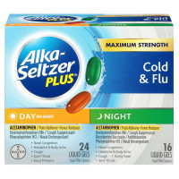 Alka-Seltzer Plus Maximum Strength Cold & Flu Formula Day/Night Liquid Gels 40 ea [016500555889]