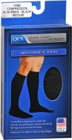 QCS Men's Medical Legwear Firm Black Medium 1 Pair [763189587822]