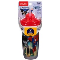 Playtex PlayTime Straw, Super Friends 1 ea [078300005353]
