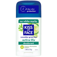 Kiss My Face Active Life Deodorant Stick, Cucumber Green Tea 2.48 oz [028367839422]