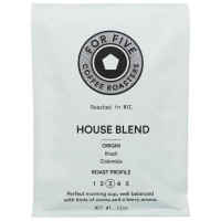 For Five House Blend Whole Bean 12 oz [853473008000]