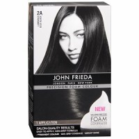 John Frieda Precision Foam Colour Permanent Hair Colour Kit Luminous Blue Black [2A] 1 Each [717226170737]