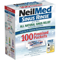 NeilMed Sinus Rinse All Natural Relief Premixed Refill Packets 100 Each [705928002005]