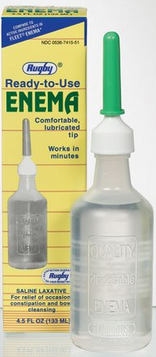 Rugby Disposable Enema Saline Laxative 4.5 oz [305367415512]