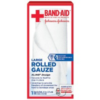 BAND-AID First Aid Rolled Gauze Sterile Roll, Large 1 ea [381371161393]