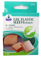 Oppo Half Gel Toe Elastic Sleeve, Medium [6702] 2 Pack [4711769147627]