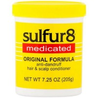 Sulfur8  Medicated Anti-Dandruff Hair and Scalp Conditioner Original Formula, 7.25 oz [075610432107]