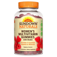 Sundown Naturals Women's Multivitamin Gummies, Raspberry, 60 ea  [030768567668]