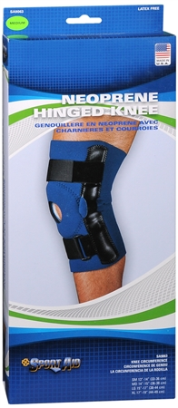 Sport Aid Hinged Knee Neoprene MD 1 Each [763189017435]