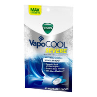 Vicks VapoCOOL Severe Medicated Throat Drops, Menthol,  45 ea [323900039681]