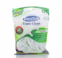 DenTek Triple Clean Floss Picks Fresh Mint 150 Each [047701001905]