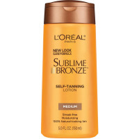 L'Oreal Paris Sublime Bronze Self-Tanning Lotion, Medium Natural Tan 5 oz [071249232972]
