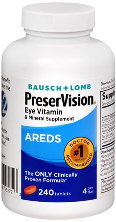 Bausch & Lomb Ocuvite PreserVision Tablets 240 Tablets [324208432723]
