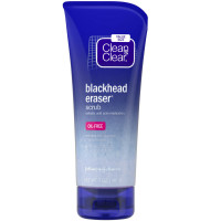CLEAN & CLEAR Blackhead Eraser Facial Scrub with 2% Salicylic Acid Acne Medication, Oil-Free Daily Facial Scrub for Acne-Prone Skin Care 7 oz [381371181889]