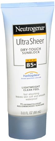 Neutrogena Ultra Sheer Dry-Touch Sunblock Lotion SPF 85 3 oz [086800872856]