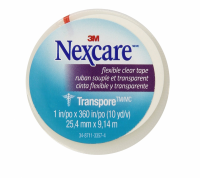 Nexcare Transpore Flexible Clear Tape 1 Inch X 10 Yards 1 ea [051131566606]