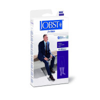 JOBST 30-40 mmHg Ribbed Dress Compression Socks, Closed Toe, Black, Small, 1 Pair [035664151102]