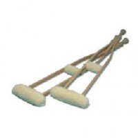 Hermell Crutch Sheepskin Covers 1 pair [091608050153]