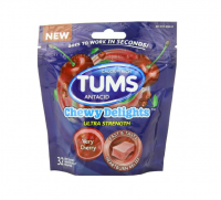 TUMS Chewy Delights Ultra Strength Soft Chews, Very Cherry 32 ea [307667491159]