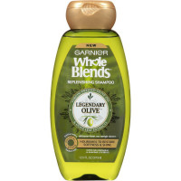 Garnier Whole Blends Replenishing Shampoo, Legendary Olive 12.5 oz [603084494545]