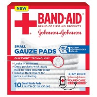 BAND-AID Brand Small Gauze Pads, 2 x 2 Inch  10 ea [381371161232]