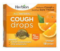 Herbion Naturals Cough Drops with Natural Orange Flavor, 18 ct [040232174957]