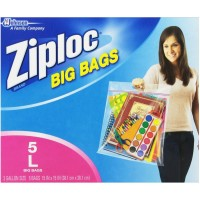 Ziploc Big Bag Double Zipper 5 ea [025700656760]
