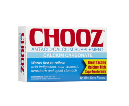 Chooz Antacid/Calcium Mint Gum 12 ea [641528000839]