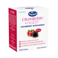 Ocean Spray Cranberry + Health™ Soft Chews, 50,000mg, clinically proven cranberry health benefits to help support urinary tract health, Non-GMO 28  ea [031200023988]