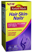 Nature Made Hair, Skin, Nails, 60 Softgels [031604029272]