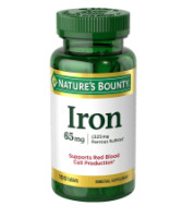 Nature's Bounty Iron 65 mg Tablets 100 Tablets [074312413834]