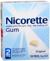Nicorette Stop Smoking Aid 2 mg Gum Original 110 Each [307667845082]