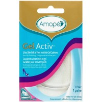 Amope GelActiv Ultra Slim Ball of Foot Insoles for Women, 1 pair, Size 5-10 [051400961989]