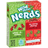 Nerds Sour Wild Cherry & Watermelon Punch Candy 36 pack (1.65oz per pack)  [079200392307]