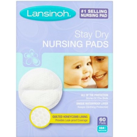 Lansinoh Nursing Pads Stay Dry 60 Each [044677202657]
