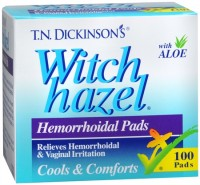 Dickinson's Witch Hazel Hemorrhoidal Pads 100 Each [052651000304]