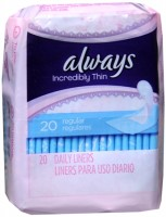 Always Thin Pantiliners Regular Unscented 20 Each [037000426882]