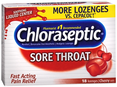 Chloraseptic Sore Throat Lozenges Cherry 18 Each [378112011062]