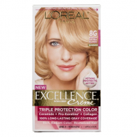 L'Oreal Paris Excellence Creme Haircolor, Medium Golden Blonde [8G] (Warmer) 1ea [071249210727]