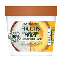 Garnier Fructis Nourishing Treat 1 Minute Hair Mask + Coconut Extract 3.4 oz [603084542291]