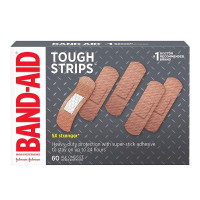 BAND-AID Brand Adhesive Bandages Tough Strips 60 ea [381371155675]