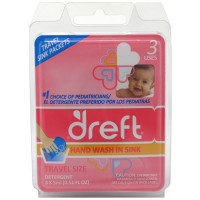 Dreft Travel Hand Wash In Sink Detergent Packets 3 ea [083725845002]