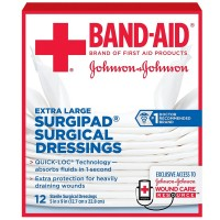 BAND-AID Surgipad Surgical Dressing, Extra Large 12 ea [381371161492]