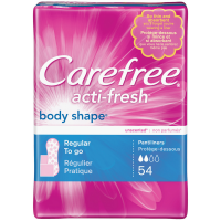 CAREFREE Acti-Fresh Body Shape Regular To Go Pantiliners, Unscented 54 ea [078300069942]